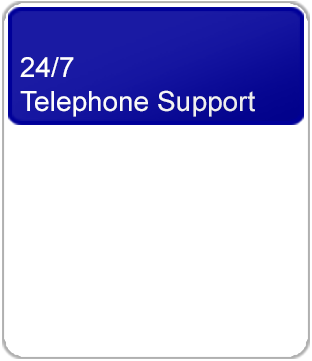24/7 Telephone Support through helplines